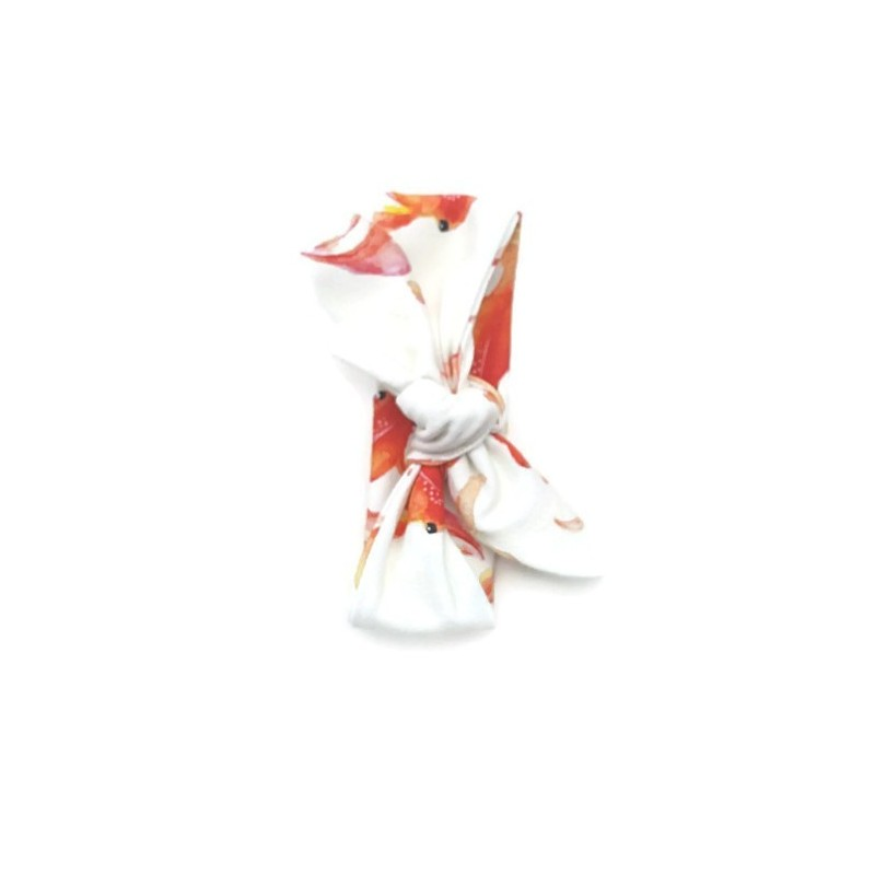 Tie knot haarband watercolour goldfish