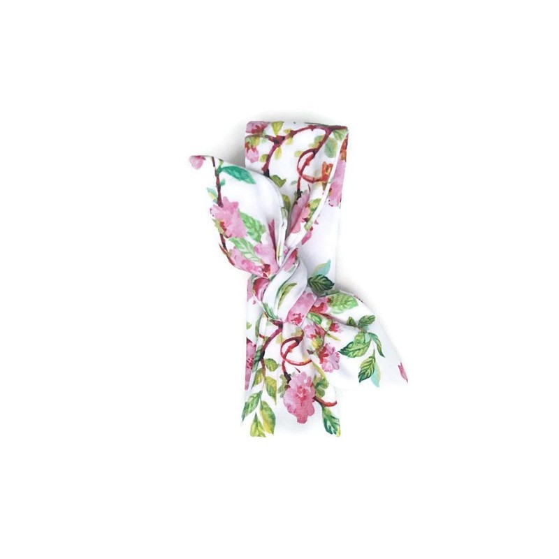 Tie knot haarband summer flowers