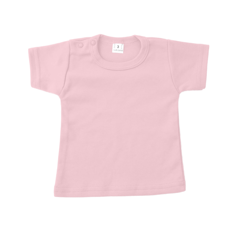 baby of kinder t-shirt licht roze