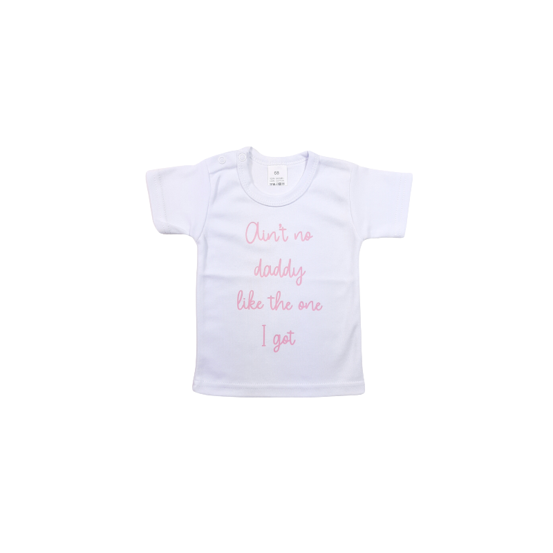 Vaderdag shirt the-dreamstore. Ain't no daddy like the one i got. Roze of zwart opdruk.