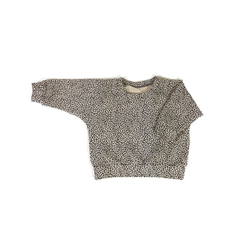 Handgemaakte sweater panterprint