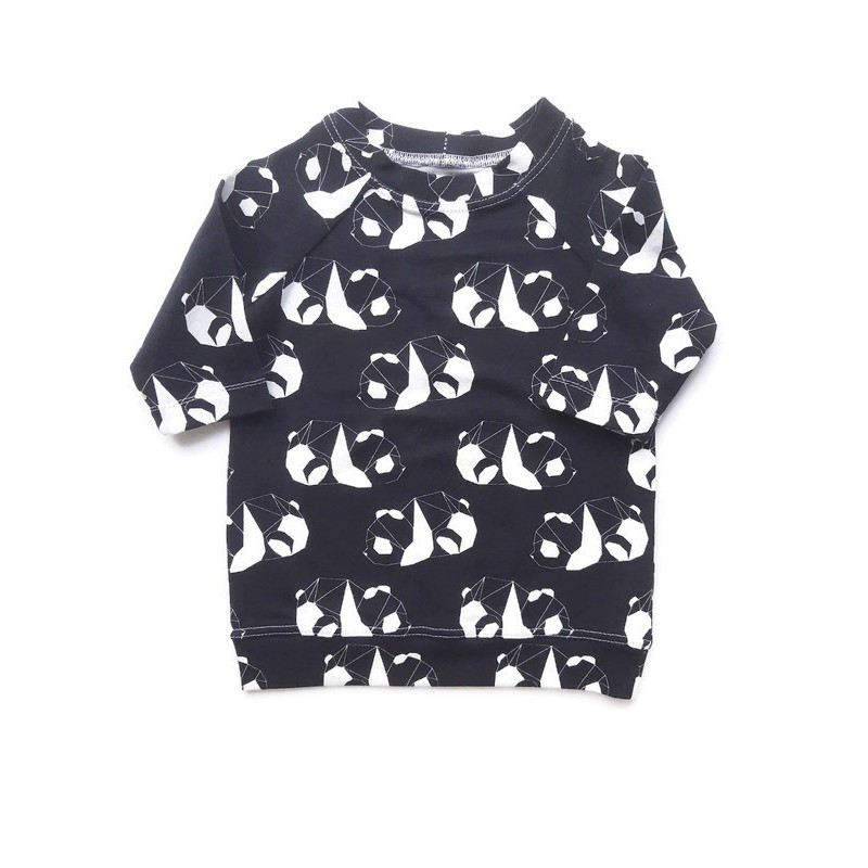 sweaterdress panda monochrome